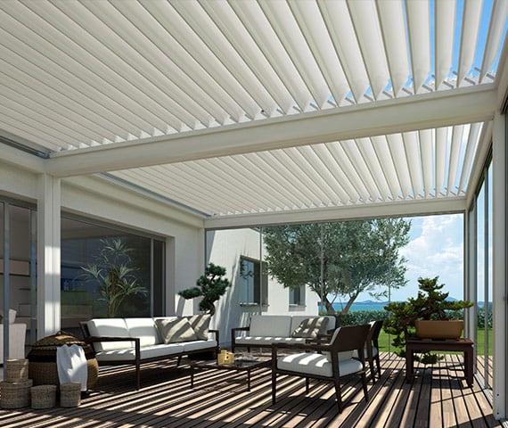pergola moderna bioclimatica in alluminio dal design moderno